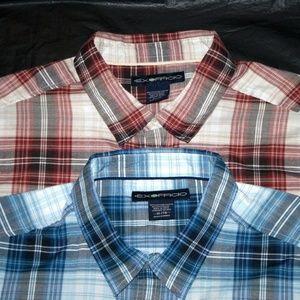 ExOfficio Short Sleeve Plaid Button Lot Of 2 Shirt